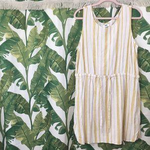 Old Navy linen blend striped dress